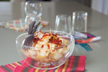 Recette de salade d'endives au chorizo croustillant
