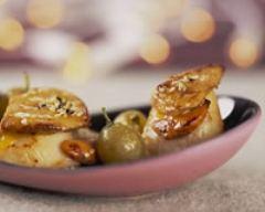 Recette saint-jacques poêlées au foie gras