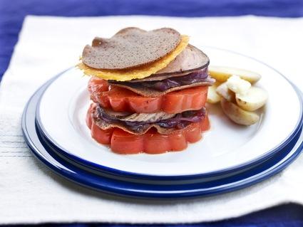 Recette de burger de tomates et andouille