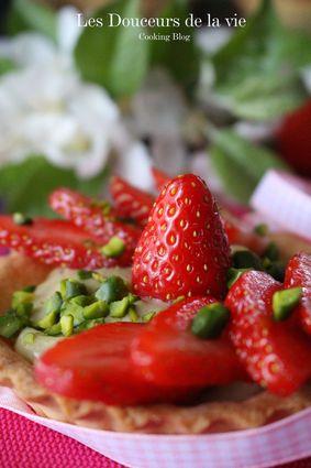 Recette de tartelettes aux fraises et crème à la pistache