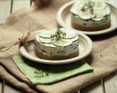 Recette mille feuille de quinoa, faisselle et courgettes