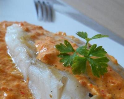 Recette poisson sauce chorizo & poivron rouge