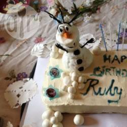 Recette gâteau olaf (la reine des neiges) – toutes les recettes ...