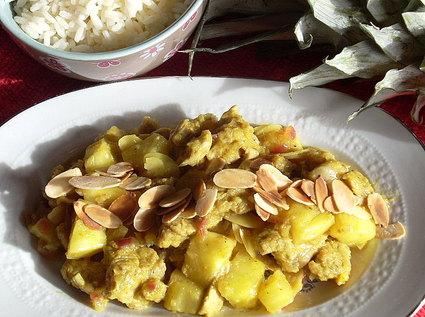 Recette de curry de veau à l'ananas frais