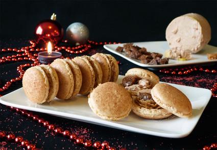 Recette de macarons au pain d'épices, foie gras et figues