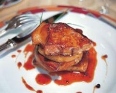 Recette millefeuille de foie gras des landes aux pommes