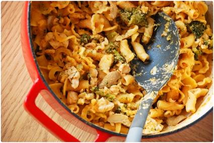 Recette one-pot pâtes, poulet et brocoli