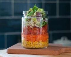 Recette salade jar au maïs