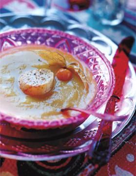 Soupe d'artichauts, potiron et coquilles saint-jacques pour 6 ...