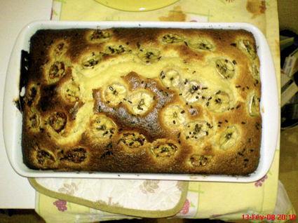 Recette de gâteau au yaourt à la banane