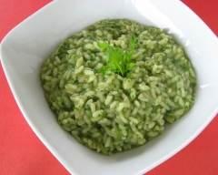 Recette risotto vert à la vague végétarien
