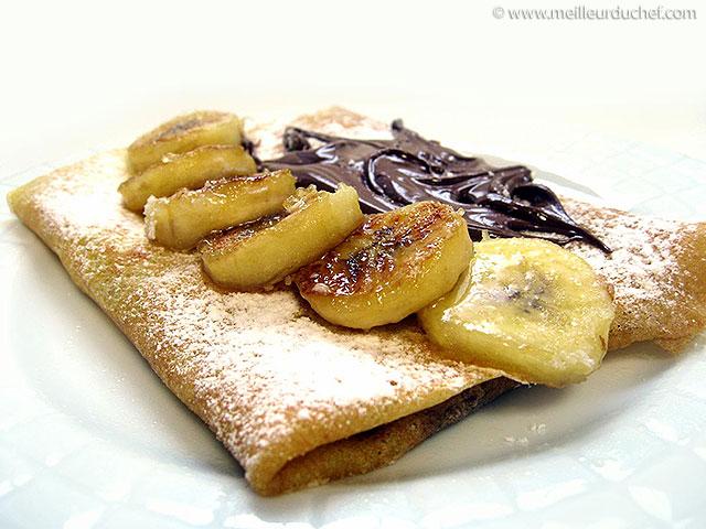 Crêpe chocolat/banane  notre recette avec photos  meilleurduchef ...
