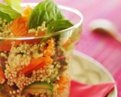 Recette salade de quinoa bio aux petits légumes