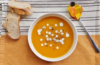 Recette de soupe de potimarron au gingembre