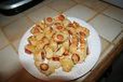 Recette de mini roulés aux saucisses