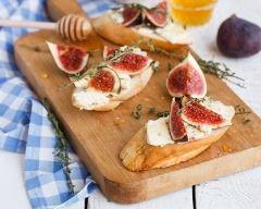 Recette toasts figues et fromage frais
