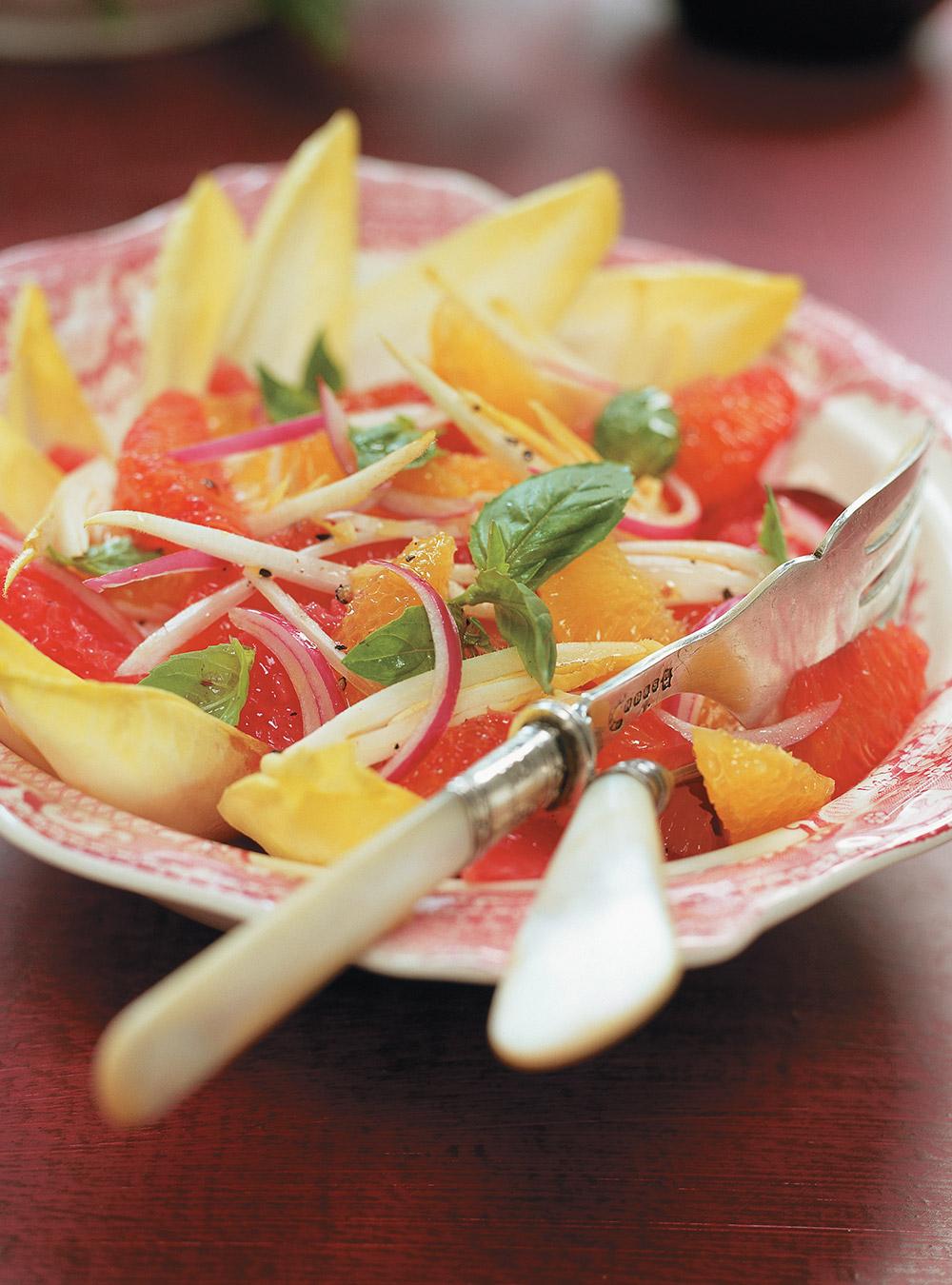 Salade d'agrumes et d'endives | ricardo