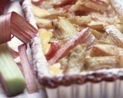 Recette tarte à la rhubarbe et à la cassonnade