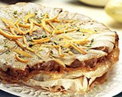 Recette croustillant d'endives et agneau confit à l'orange