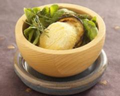 Recette toasts d'aubergine au fromage de chèvre