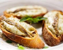 Recette toasts de sardines à la mozzarella