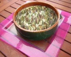 Recette flan d'aubergine et de courgettes