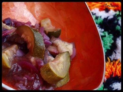 Recette de salade antioxydante d'aubergines et de courgettes