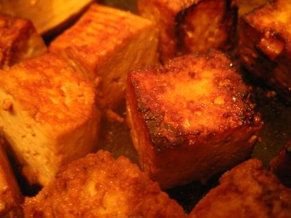 Recette de tofu caramélisé