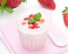 Recette yaourt à la fraise facile