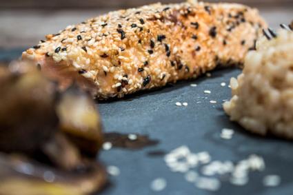 Recette de saumon pané au sésame
