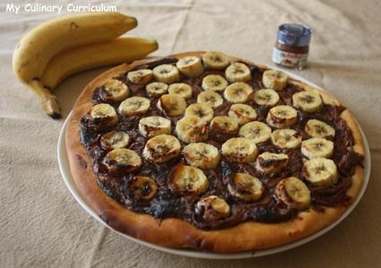 Recette de tarte pizza bananes nutella