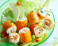 Recette salade fantaisie de surimi et ses brochettes fondantes