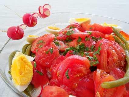 Recette de salade de tomates estivale