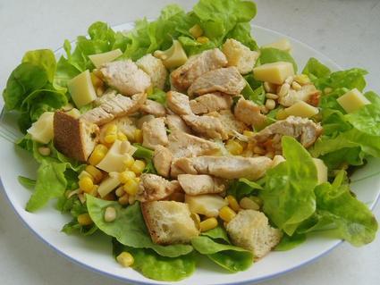 Recette de salade composée au poulet