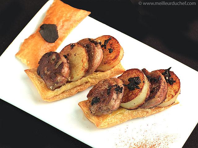 Feuilleté de foie gras truffé  la recette illustrée  meilleurduchef.com