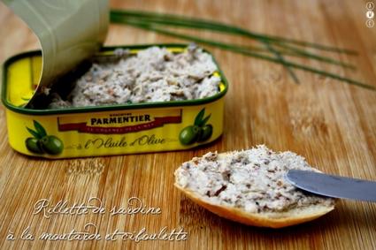 Recette de rillettes de sardine à la moutarde et ciboulette