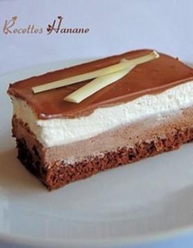 Gâteau 3 chocolats pour 10 personnes
