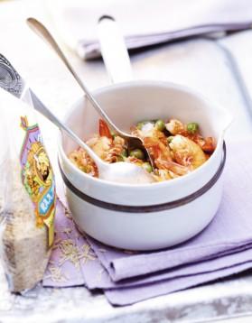 Riz cantonais aux crevettes pour 6 personnes