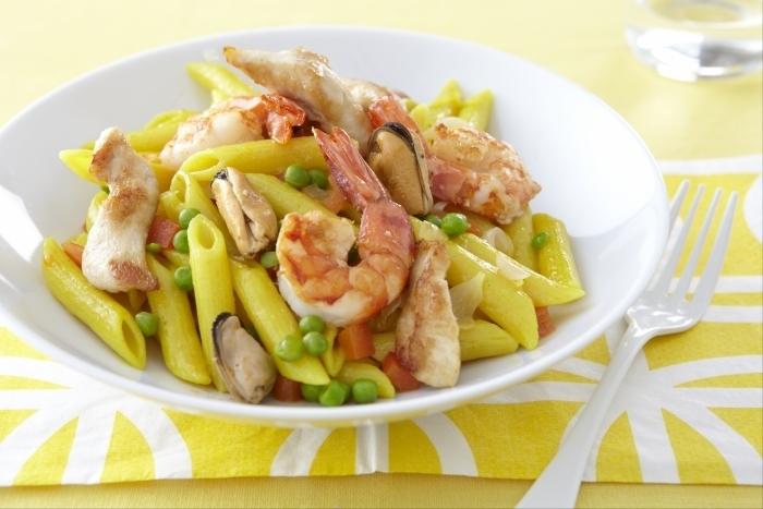 Recette de pastasotto aux saveurs de paella facile et rapide
