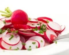 Recette salade aux deux radis