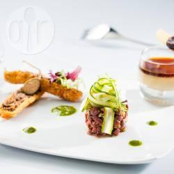 Recette croustillant de confit de canard, panacotta de foie gras ...