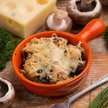 Gratin champignons jambon