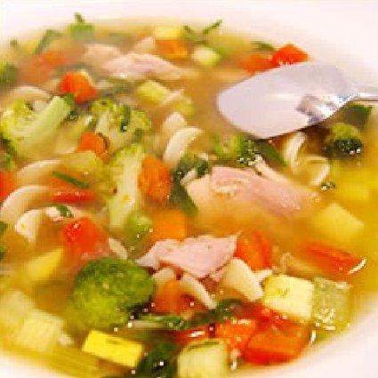 Recette de potage aux légumes et poulet