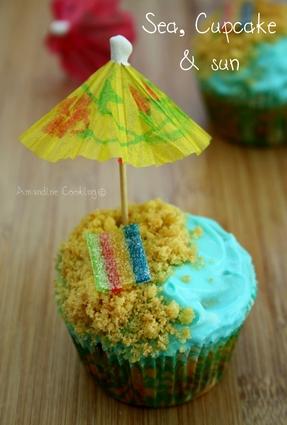 Recette de cupcakes estivaux à la vanille et sablés bretons