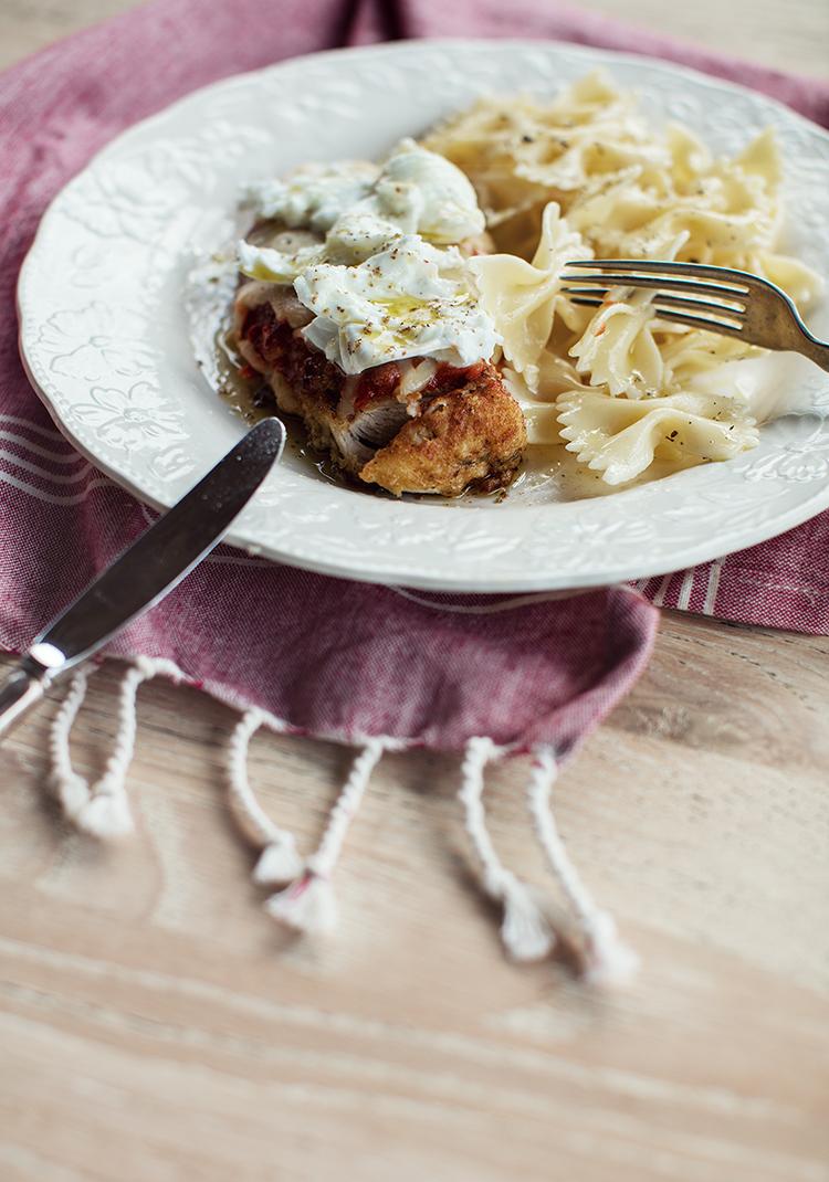 Escalopes de poulet alla parmigiana