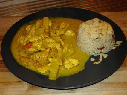 Recette de poulet coco curry ananas