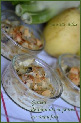 Recette de gratin de fenouil et poires au roquefort