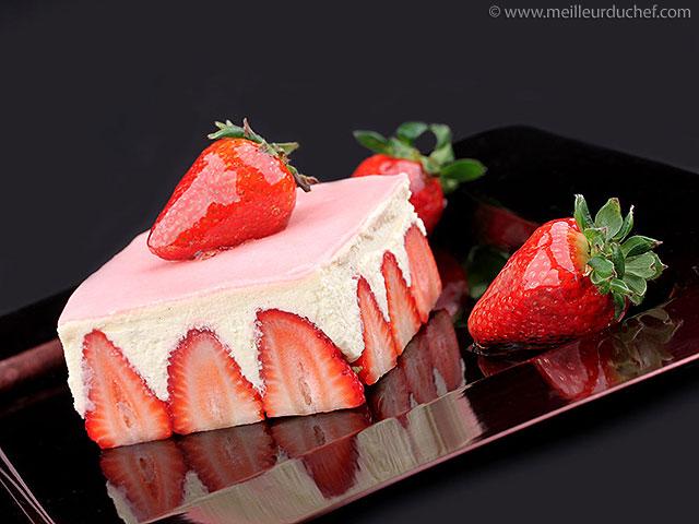La recette du célèbre gâteau aux fraises !  meilleurduchef.com