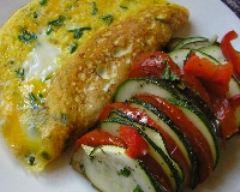 Recette tian de légumes et omelette à la ciboulette