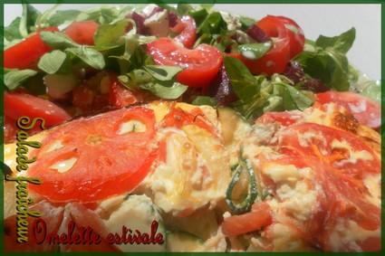 Recette omelette aux legumes façon gratin